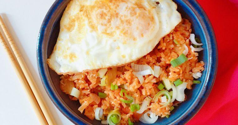 Korean Kimchi and Bacon Fried Rice