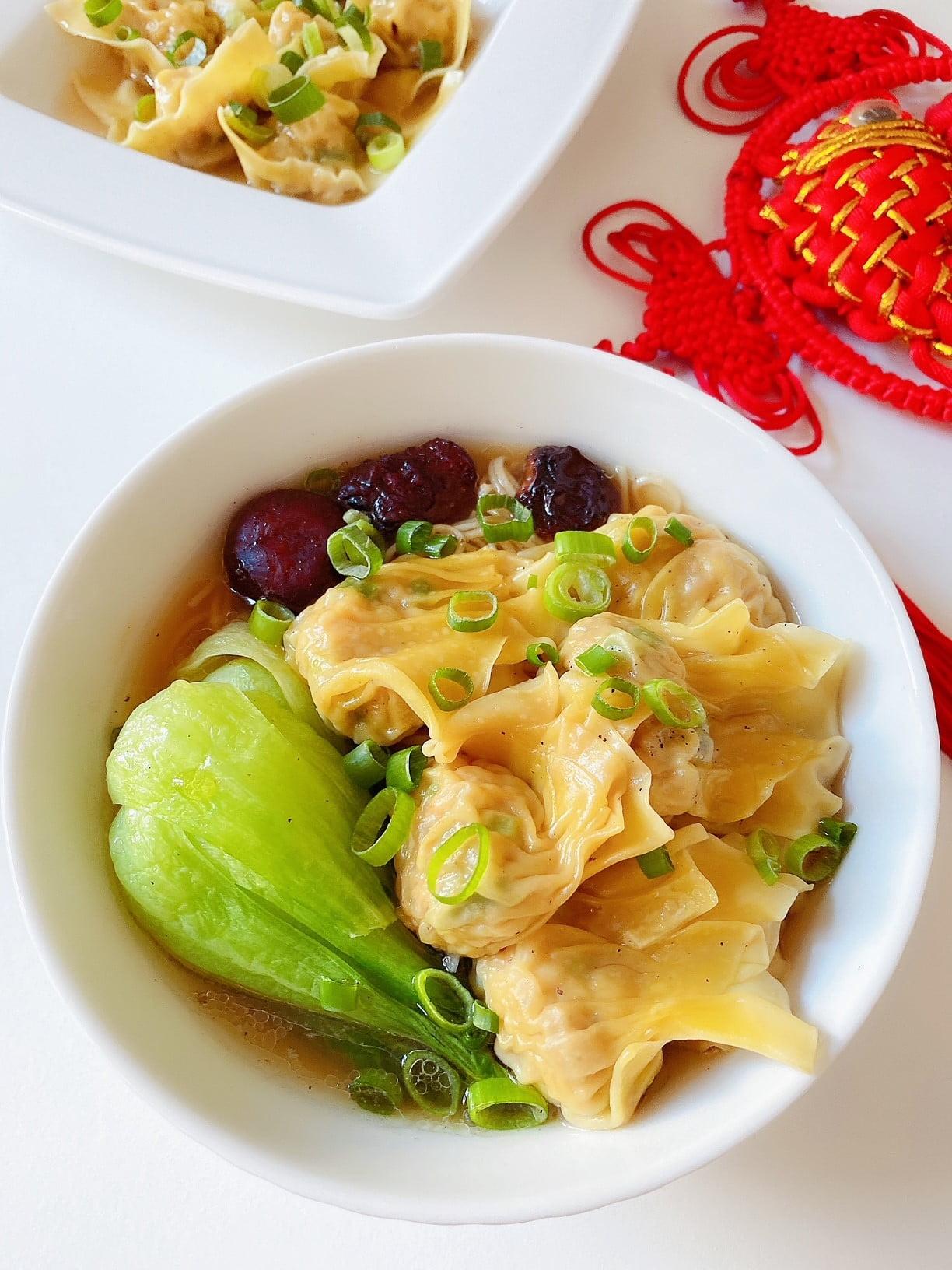 Cantonese Style Wonton Noodle Soup 广式云吞面 - COOK COOK GO